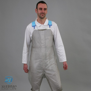 Split Leg Metal Mesh Apron used for body protection made from stainless steel wire 304