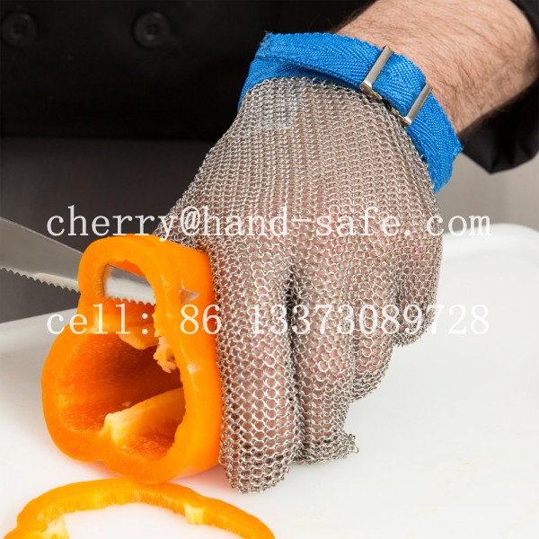 Food Processing Gloves--Made from stainless steel wire