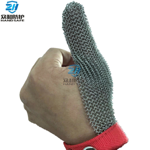 One Finger Stainless Steel Metal Mesh Glove
