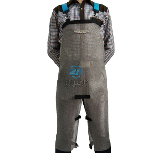Cut Resistant Stainless Steel Apron with Split Leg