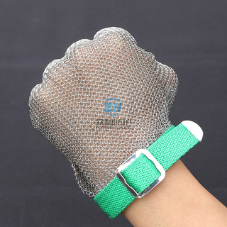 Welded Ring Mesh Metal Mesh Safety Gloves for Cut Resistant