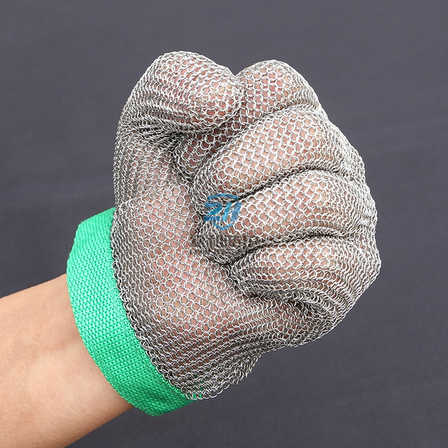 Five Finger Chainmail Gloves for Cut Resistant